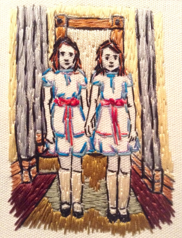 Kubrick Shining Homage Embroidery Grady Twins by Tickle And Smash