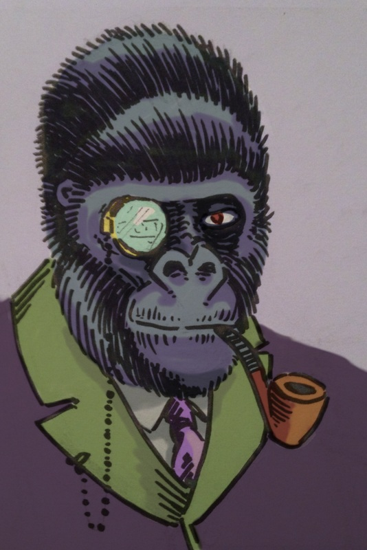 Smoking Gorilla Illustration TickleAndSmash Jim Tom
