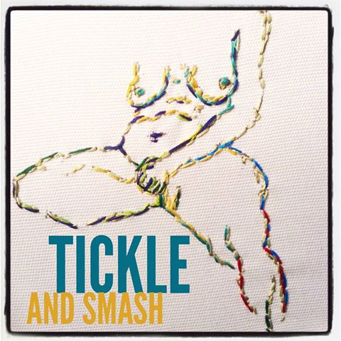 TickleAndSmash embroidery nudes portraits sfetsy handmade Bay Area Ca Artist Lisa Spinella