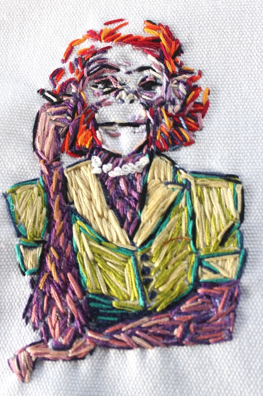 Smoking Monkey #2 - Embroidery by Tickle And Smash