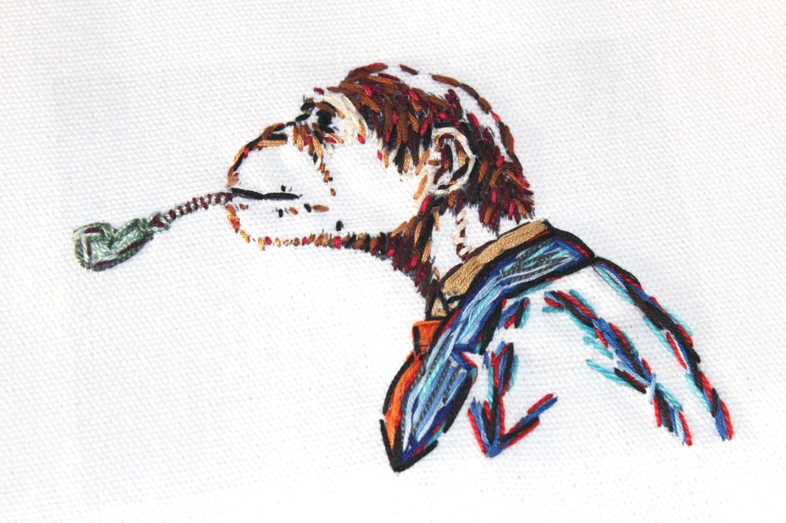 Smoking Monkey Embroidery by Tickle And Smash Dapper Gentleman Steampunk